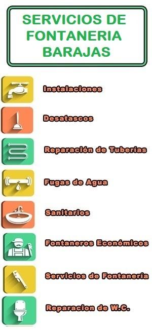 servicios de fontaneria en Barajas