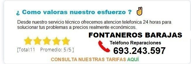 Fontanero Barajas precio